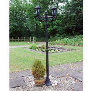 Outdoor garden lighting victorian style 2 head lamp post garden image is loading outdoor garden lighting victorian style 2 head lamp aloadofball Images