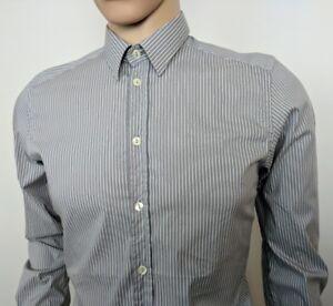 Dolce-amp-Gabbana-Gold-Mens-Dress-Shirt-Grey-Stetch-15-5-39-Chest-38-New-RRP-265