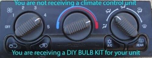 BULB KIT for 1999-2002 Chevy Silverado /& GMC Sierra Yukon Climate Controls