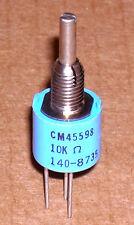 1- Clarostat 10k S-taper potentiometer ~NEW~ model 140-8735, CM45598