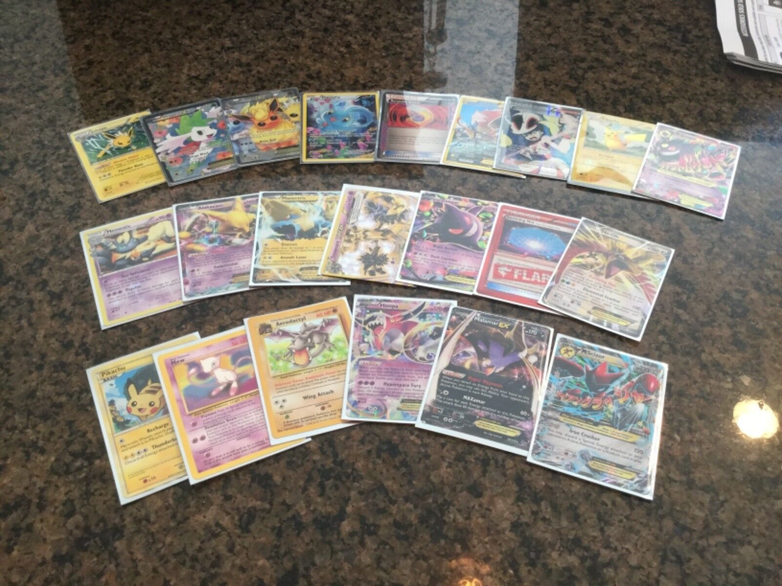 Pokemon card lot ex and full art trainers- good condition
