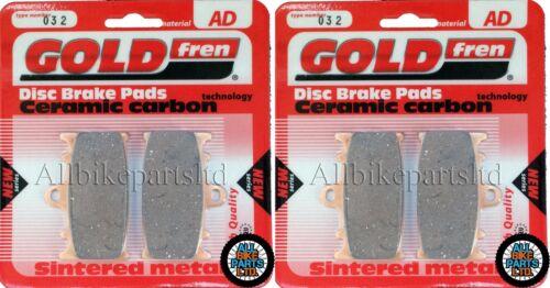 2 pair KAWASAKI ZZR1100 D2//D3 1994-1995 /> SINTERED FRONT BRAKE PADS *GOLDFREN*