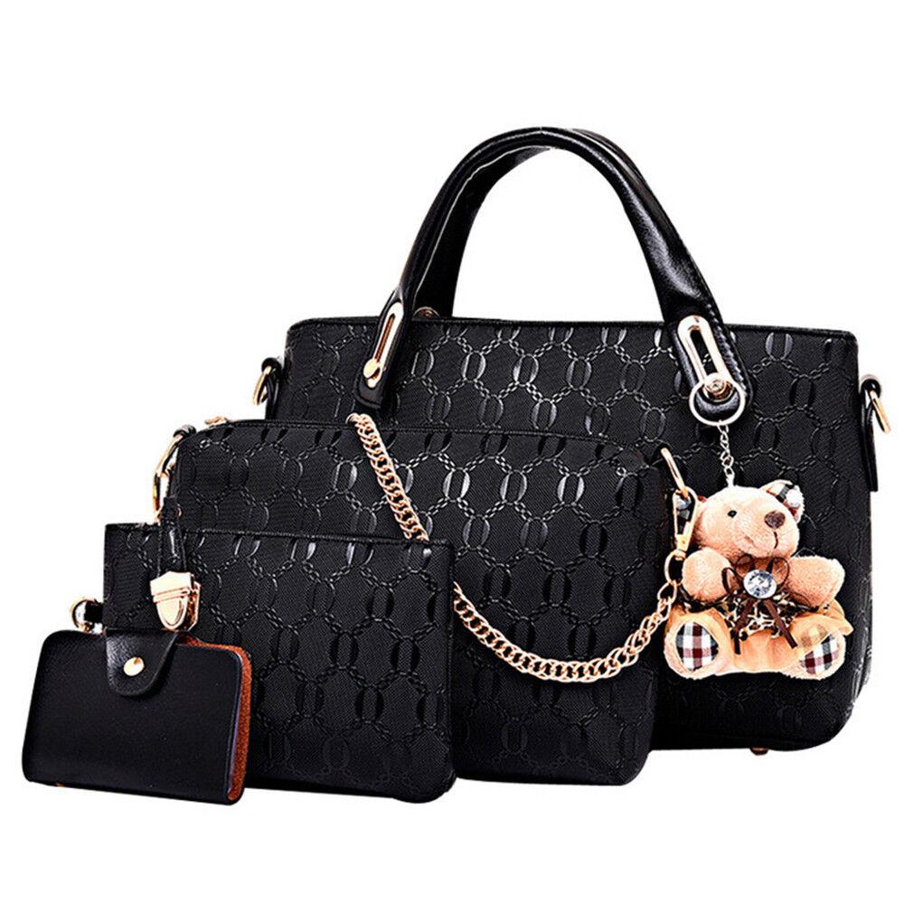 81ce1f48e011 5Pcs/Set Women Lady Leather Handbags Messenger Shoulder Bags Tote Satchel  Purse