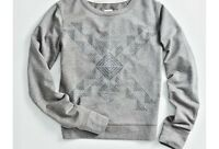 Toms For Target Women's Tribal Print Crewneck Sweatshirt Gray Size Xs S M L