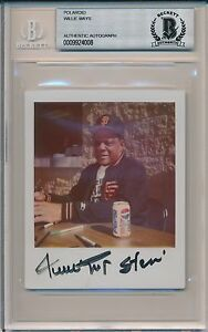 Willie-Mays-Signed-Polaroid-Photo-Vintage-Auto-Beckett-Authentic-Encased-4008