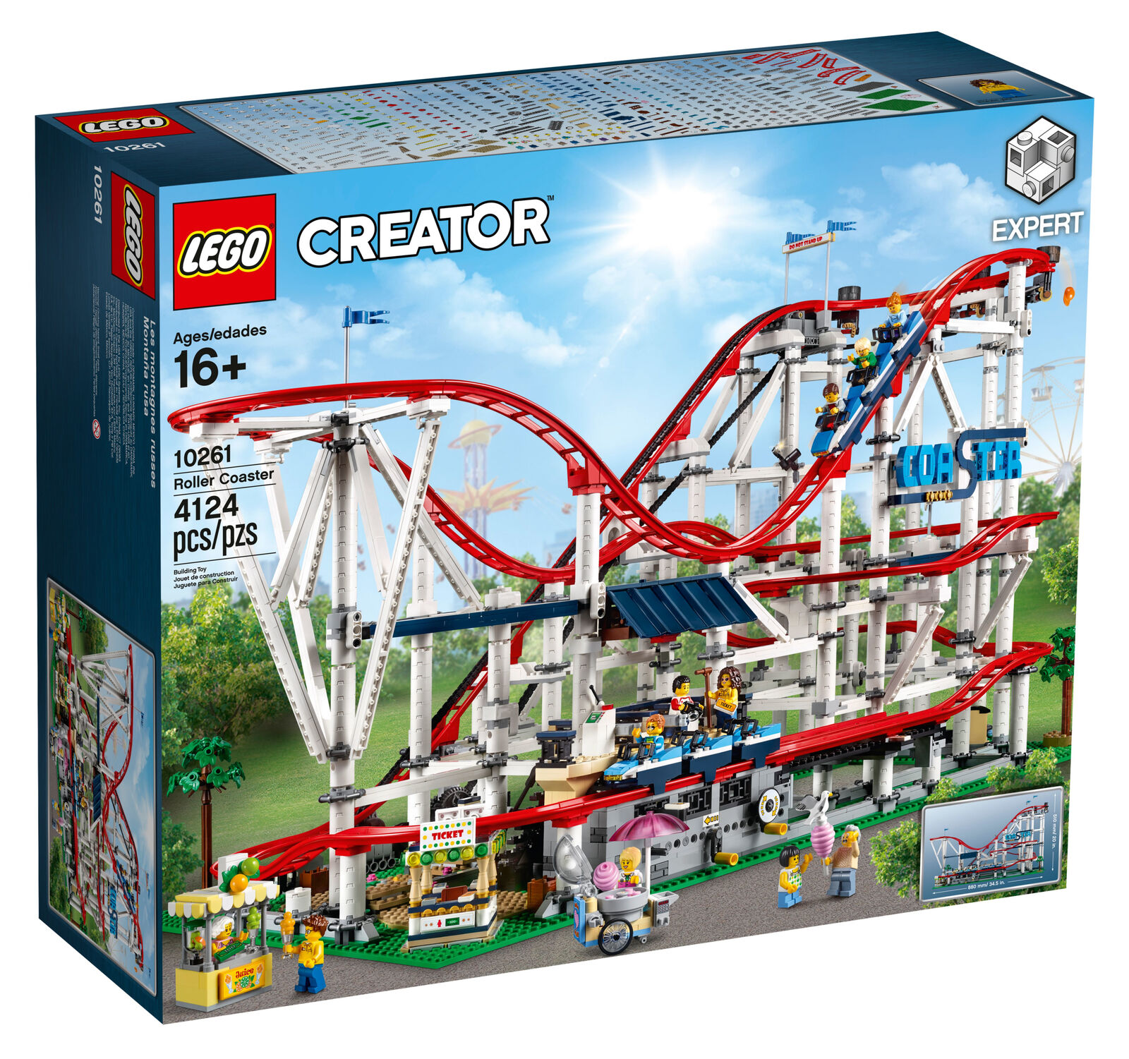 Nuevo Lego Expert Creator Montaña Rusa Conjunto de 10261 - 4124 piezas  Wow