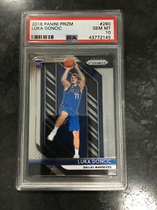 2018-19-Panini-Prizm-Luka-Doncic-280-Base-PSA-10-Mavs-ROOKIE-Clean-Case