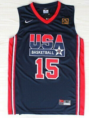 ANY SIZE MAGIC JOHNSON #15 TEAM USA BASKETBALL JERSEY NAVY BLUE