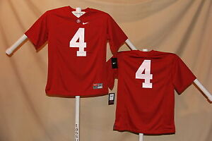 bd287e05c ALABAMA CRIMSON TIDE Nike #4 FOOTBALL JERSEY Youth Large NWT $55 ...