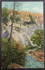 New Mexico Canyon Rito de Los Frijoles Ceremonial Cave 1935 Linen Postcard