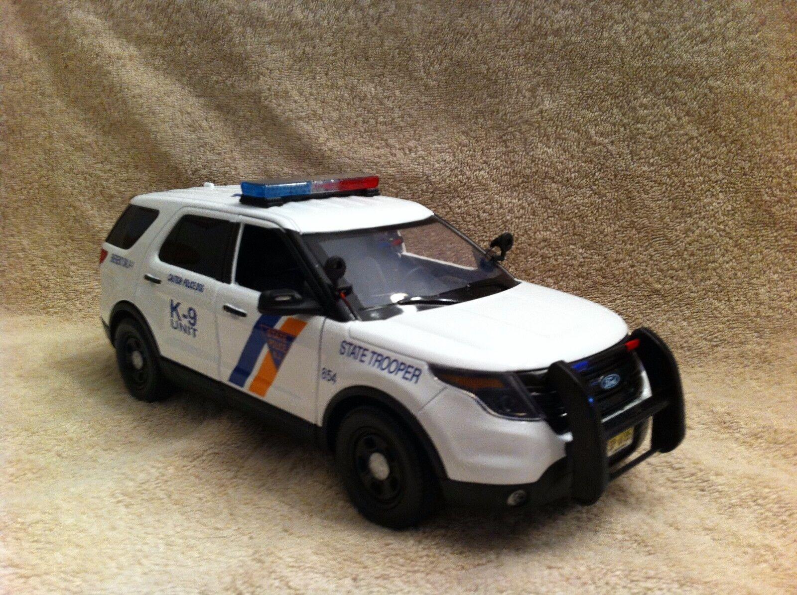 1  18 SKALE NY JERSEY STATE POLICE K9 UNIT FD SUV UT DIEDICAN ARBETSGRÄNSER