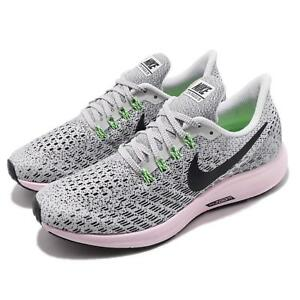 pick up 7ec5f 7032c Details about Nike Wmns Air Zoom Pegasus 35 Vast Grey Black Pink Women  Running Shoe 942855-011
