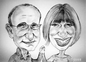 A5 Personalised caricature of two people from photo your wonderful gift
