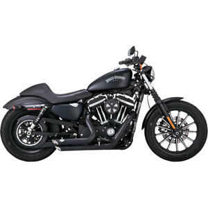 Vance-amp-Hines-Black-Shortshots-Staggered-Exhaust-for-2014-2017-Harley-Sportster