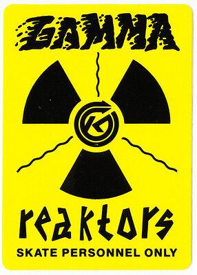 Kryptonics Wheels Gamma Reaktors Old Skateboard Sticker skate snow surf board