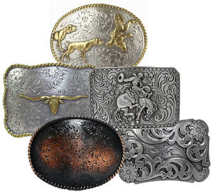 WESTERN-COWBOY-COWGIRL-RODEO-BELT-BUCKLES-CHOOSE-FROM-33-STYLES-ALL-NEW