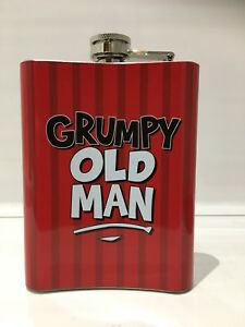Image Is Loading Grumpy Old Man Novelty Hip Flask Mens Dad