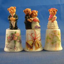 Birchcroft Thimbles -- Set of Three  -- Model Top Wedding Bells ( Make Offer )