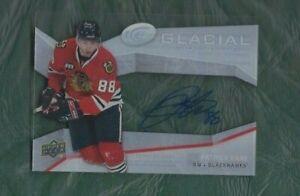 2008-UD-Glacial-hockey-card-Patrick-Kane-autographed-signed-Chicago-Blackhawks
