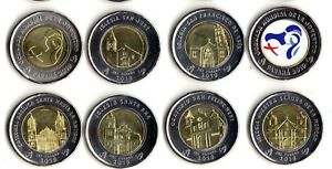 "Panama 2019 Set 8 Monedas 1 Balboa Bimetal Bimetalica "" World Youth Day"" Unc Bdncqk01-07225935-836625992"