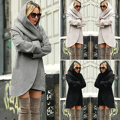 Fashion Womens Hoodie Wool Jacket Coat Wooled Parka Overcoat Outwear Winter Coat
