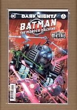 Batman Murder Machine 1 DC 2017 NM Dark Nights Metal 1st Print Foil