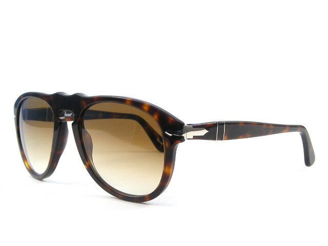 653e5e39ab8 Persol PO 649 UK Sunglasses Hand Made Crystal Glass Lens 100 UV Pilot 24 51  Havana - Brown Gradient 54 Mm Large for sale online