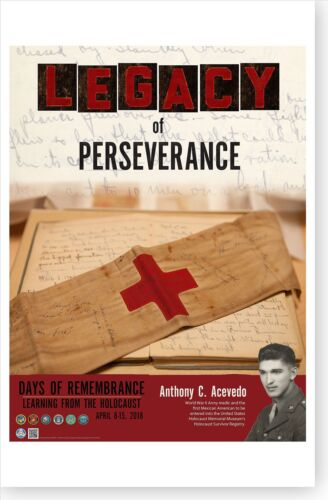 2018 Holocaust Days Of Remembrance Poster Legacy Of Perseverance