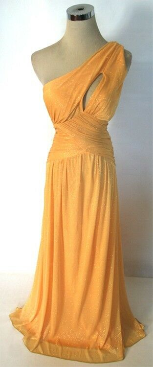 NWT WINDSOR  90 Lemon gold Evening Formal Prom Gown 7