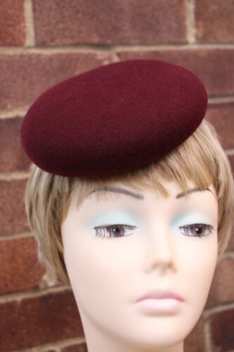 Ladies Felt Small Round Botton shape winter Hat Base// Races Weddings// Ascot
