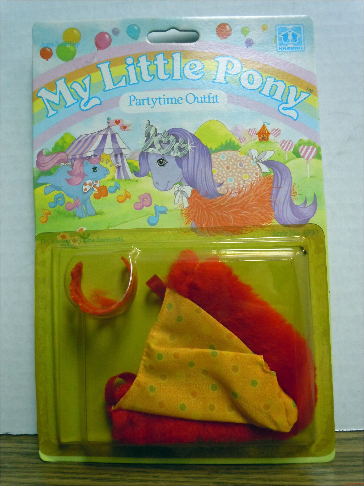 PARTYTIME OUTFIT My Little Pony Costume Vintage 1983 Hasbro NEW