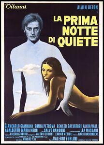 LA PRIMA NOTTE DI QUIETE MANIFESTO FILM ALAIN DELON 1972 LE PROFESSEUR POSTER 2F