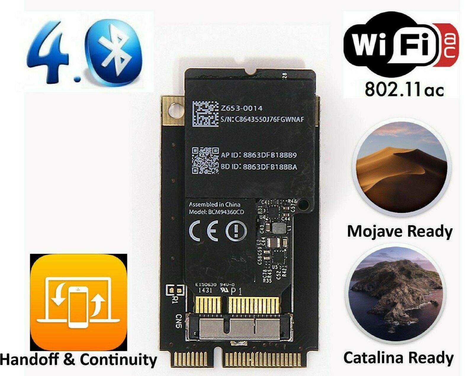 Mac Pro WiFi Bluetooth Upgrade Kit - 802.11 a/b/g/n/ac with Bluetooth 4.0 - USA