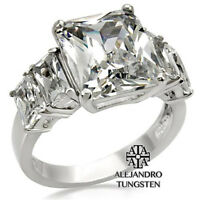 Women's Ring Wedding 5 Ct Princess Cut Stainless Steel Polished Size 5 to 10