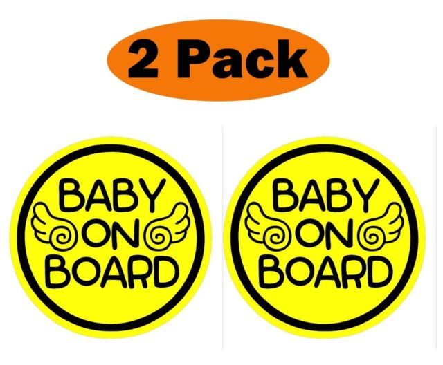 "Zone Tech 7/"" Baby On Board Vehicle Car Safety Bumper Decal Warning Sticker Sign"