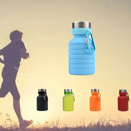 Collapsible Water Bottle Retractable Travel Silicone Drinking Large Capacity