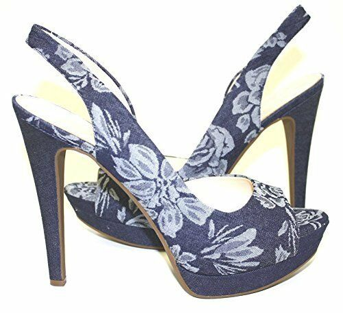 Jessica Jessica Jessica Simpson js-Sabella Indigo Denim taco sin talón Zapato Combo Lily  109  online barato