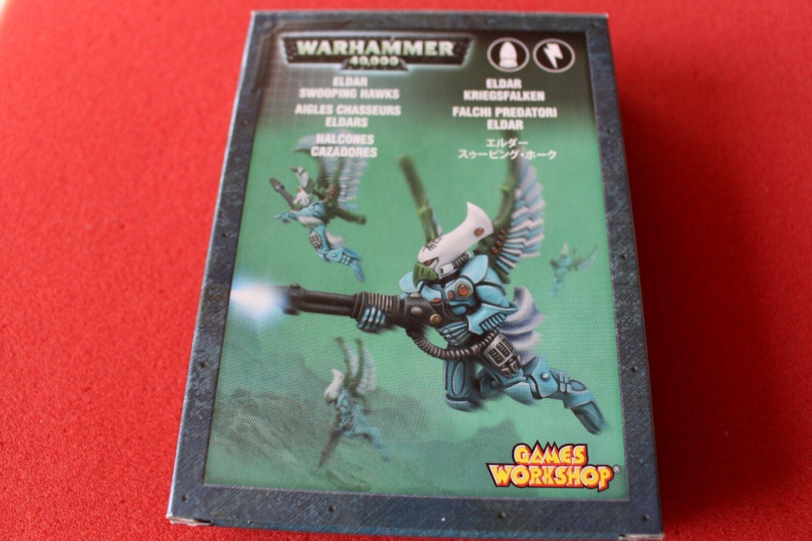 Juegos Workshop Warhammer 40k Eldar Swooping Hawks Squad Metal Figuras WH40K OOP