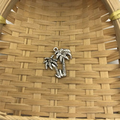 6 pcs Tibet silver Palm Tree Charms 21x20mm DIY Jewellery Making crafts