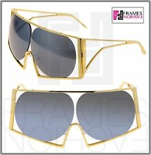 LINDA FARROW TODD LYNN Angular Metal TL4 Gold Silver Mirrored Sunglasses