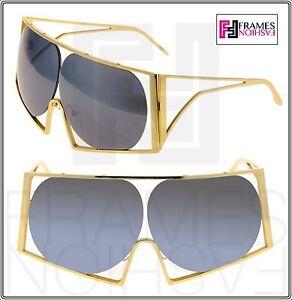 832fe5a1ea8 LINDA FARROW TODD LYNN Angular Metal TL4 Gold Silver Mirrored ...