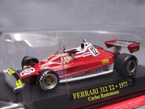 Coleccion-Ferrari-F1-312-T2-1977-Carlos-escala-1-43-Diecast-pantalla-de-coche-Mini