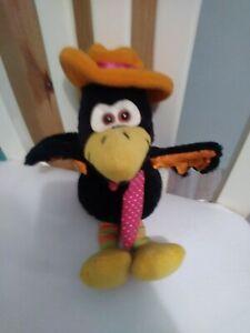 Russ Calvin Crow Bird Plush  Vintage Stuffed Animal Toy