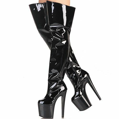 7.87 inches High Height Sex boots Stiletto Heel Over-the-Knee Over-the-Knee Over-the-Knee Boots US size 5-11 0fe676