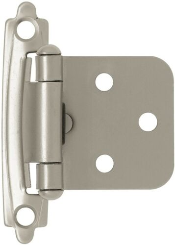 Brainerd 8-Pack 2-3/4-in X 1-3/4-in Self-Closing Overlay Cabinet Hinge Satin