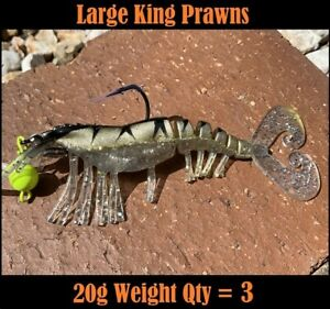 3x-King-Prawn-Lures-20g-Ultimate-Barra-Snapper-Jewfish-Flathead-Jacks-Lure-140mm