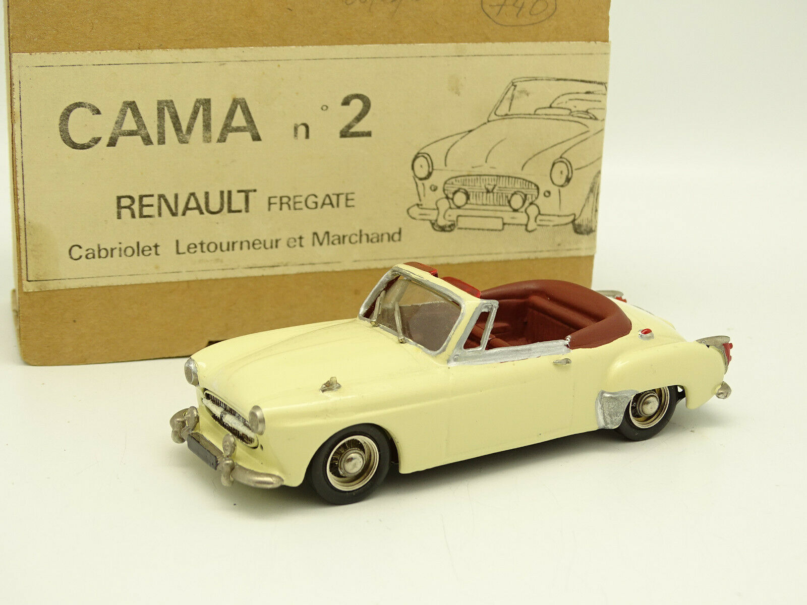 Cama Kit Montato 1 43 - Renault Fregata Cabrio Letourneur e Commerciante
