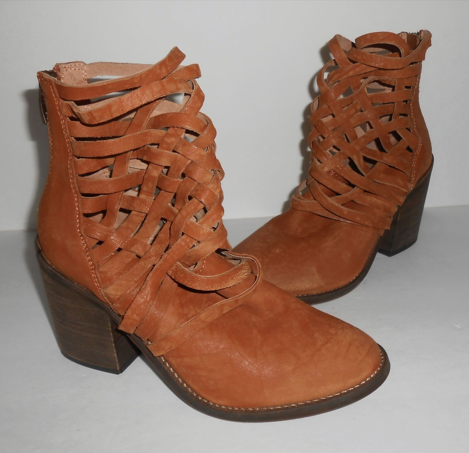 Free People Carrera Brown Heel Boot Brown Carrera Sz 37 d5a742