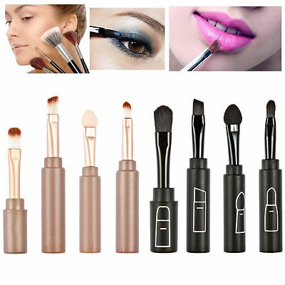 Professional Makeup Tool 4 in1 Fold Make Up Brush Set Soft Nylon Hair For Travel