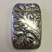 Match Safe Vesta Case Art Nouveau Sterling Silver Wallace Aesthetic Movement